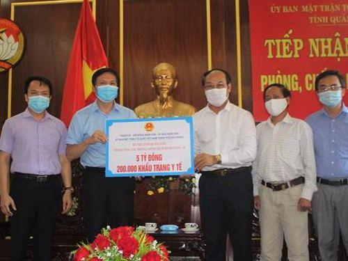 TP Hải Phòng ủng hộ tỉnh Quảng Nam 5 tỷ đồng phòng, chống dịch Covid-19