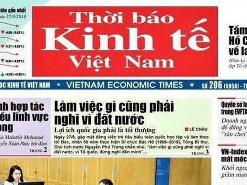 Thời báo Kinh tế Việt Nam chuyển thành tạp chí thay vì giải thể
