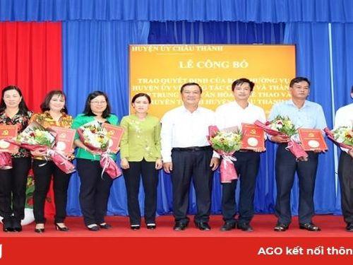 Châu Thành trao quyết định công tác cán bộ và công bố quyết định thành lập Trung tâm Văn hóa – Thể thao và Truyền thanh huyện