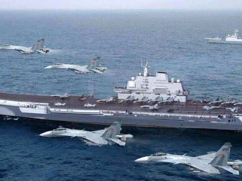 Hai tàu sân bay Trung Quốc đồng thời tập trận, thục luyện tác chiến kép