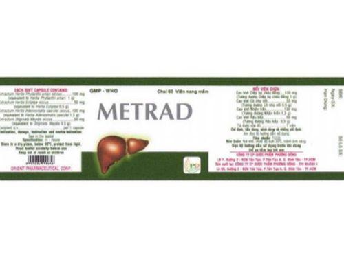 Thuốc Metrad không đạt chất lượng của Công ty cổ phần Dược phẩm Phương Đông gây lo lắng cho người dùng