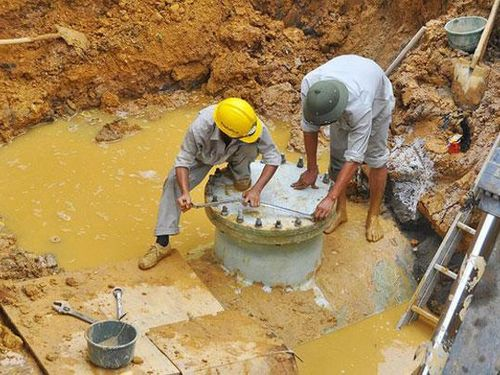 Trong chiều nay khắc phục xong sự cố đường ống truyền dẫn nước sạch sông Đà
