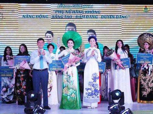 Trần Thị Kim Xuyến đoạt giải Bạch kim cuộc thi 'Phụ nữ Hàng không Năng động - Sáng tạo - Đảm đang - Duyên dáng'