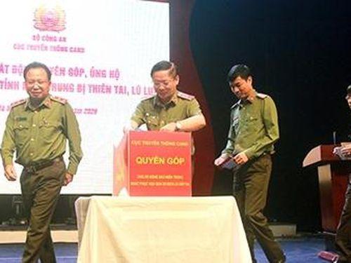 Cục Truyền thông CAND phát động ủng hộ đồng bào miền Trung