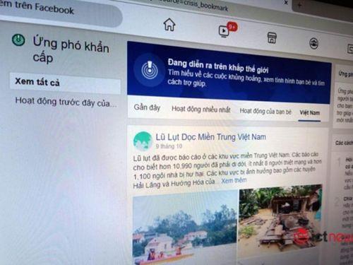 Facebook cho phép bật Kiểm tra an toàn ở miền Trung