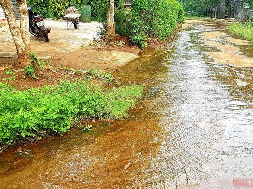 Nước ngầm dâng bất thường ở vùng trung du Quảng Trị
