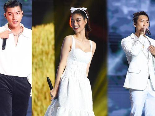 Á hậu Kiều Loan - HIEUTHUHAI & Dablo bắt tay nhau diện trang phục trắng muốt trên King Of Rap
