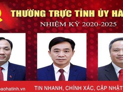 Giới thiệu chức danh, chữ ký Bí thư Tỉnh ủy, các Phó Bí thư Tỉnh ủy Hà Tĩnh