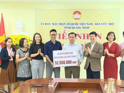 Ủy ban MTTQ tỉnh tiếp nhận ủng hộ đồng bào miền Trung