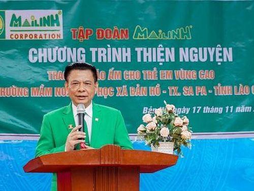 Tập đoàn Mai Linh tặng áo ấm cho học trò vùng cao