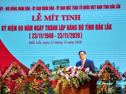 Mít-tinh kỷ niệm 80 năm Ngày thành lập Đảng bộ tỉnh Đắk Lắk