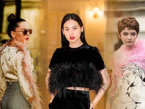 Thu/đông 2020: Fashionista khắp thế giới rộn ràng trong bữa tiệc thời trang lông vũ