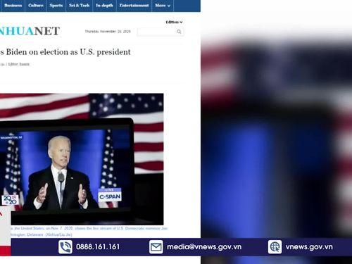 Trung Quốc gửi điện chúc mừng ông Joe Biden