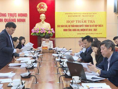 Ban Kinh tế - Ngân sách HĐND tỉnh thẩm tra tờ trình, dự thảo Nghị quyết trình tại kỳ họp thứ 21
