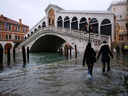 Mực nước biển dâng đe dọa thành phố nổi Venice