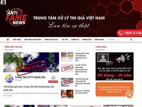 Việt Nam ra mắt Trung tâm xử lý tin giả