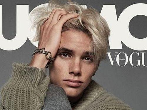 Cậu hai nhà Vic - Beck nhuộm tóc bạch kim xuất hiện trên bìa tạp chí