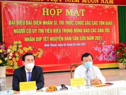 Ninh Thuận: Họp mặt nhân sĩ, trí thức, chức sắc các tôn giáo