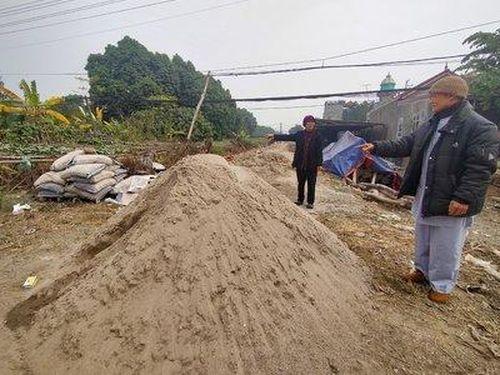 Phú Cát (Quốc Oai): Ngang nhiên xây dựng trên diện tích xảy ra tranh chấp