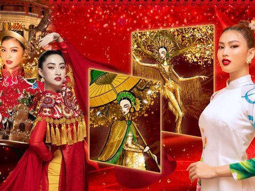 Lương Thùy Linh, Kiều Loan tư vấn National Costume cho Ngọc Thảo: 'Đi thi nhớ mang vương miện về'