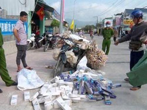 An Giang bắt 1.500 bao thuốc lá nhập lậu