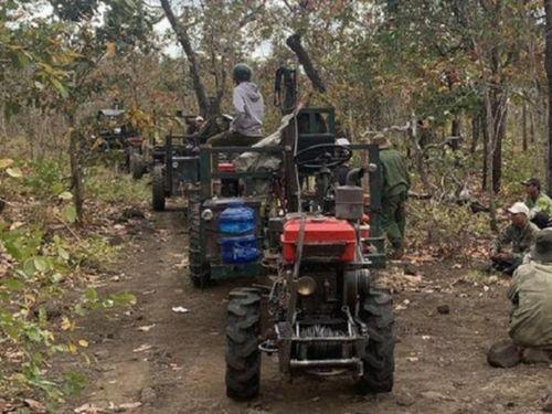 Đề nghị xử lý nghiêm vụ điều cả đoàn xe công nông vào rừng