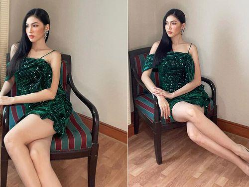 Ngày thứ 2 cách ly ở Thái, Ngọc Thảo diện váy sequin lấp lánh khoe chân dài 1m11 'cực phẩm'