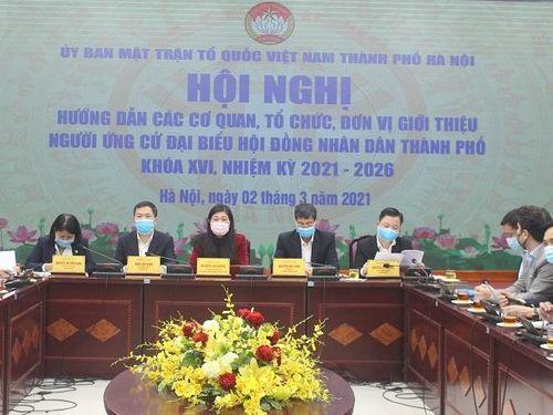 Hà Nội: Giới thiệu, ứng cử đại biểu HĐND Thành phố đảm bảo dân chủ, đúng luật