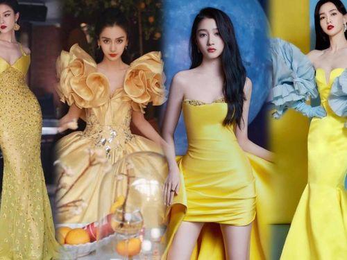Dàn sao Hoa Ngữ đẹp mê đắm với đầm vàng hot trend năm 2021 trên thảm đỏ Weibo