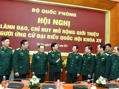 Quốc hội khóa XV có 33 đại biểu quân đội ứng cử