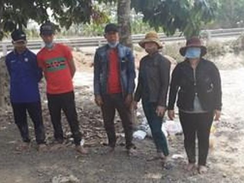 Long An: Phát hiện 5 đối tượng nhập cảnh trái phép nhập cảnh trái phép từ Campuchia