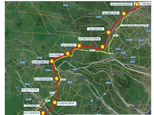 TP. HCM đề xuất điều chỉnh hướng tuyến đường sắt với Cần Thơ