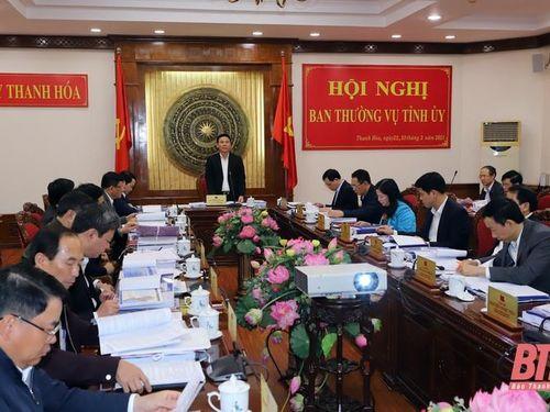 Ban Thường vụ Tỉnh ủy cho ý kiến vào Quy hoạch tỉnh Thanh Hóa thời kỳ 2021-2030, tầm nhìn đến năm 2045