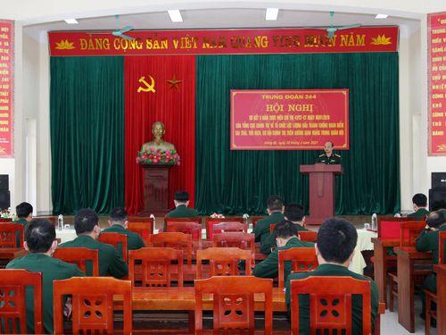 Trung đoàn 244 (Bộ CHQS tỉnh): Sơ kết 5 năm thực hiện Chỉ thị 47/CT-CT của Tổng cục Chính trị