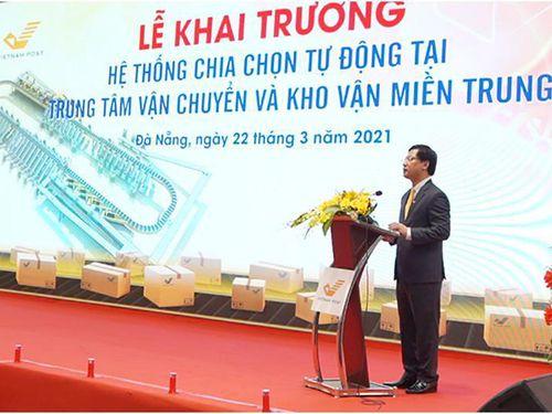 Khai trương hệ thống chia chọn hàng hóa tự động tại miền Trung