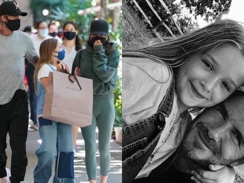 Harper Beckham 9 tuổi đã tự tay trang điểm cho mẹ