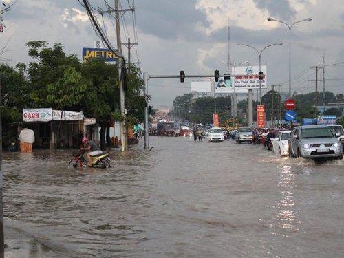 Cảnh báo triều cường đạt đỉnh, tràn bờ sông Sài Gòn