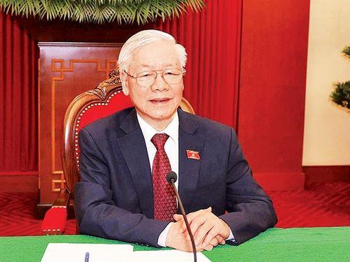Tổng Bí thư Nguyễn Phú Trọng điện đàm với Tổng thống Liên bang Nga V. Pu-tin