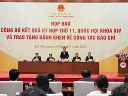 Kỳ họp thứ 11 Quốc hội khóa XIV: Công tác nhân sự đúng chủ trương, đồng thuận cao