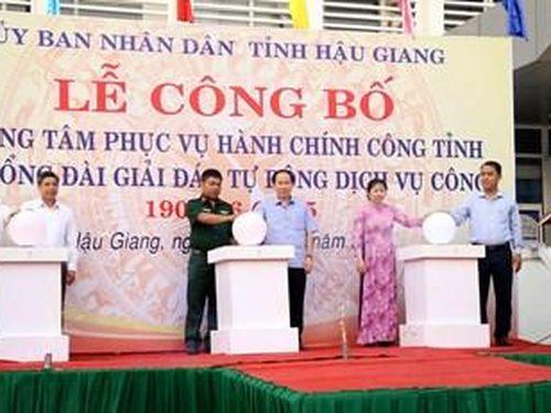 Hậu Giang công bố thành lập Trung tâm Phục vụ hành chính công