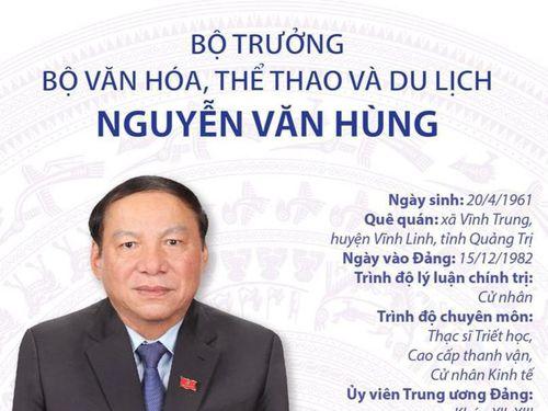 Tiểu sử Bộ trưởng Bộ Văn hóa, Thể thao và Du lịch Nguyễn Văn Hùng