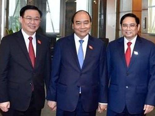 Điện mừng Lãnh đạo Việt Nam
