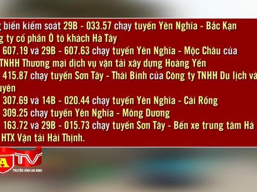 Đình chỉ khai thác 9 xe khách tại bến Yên Nghĩa và Sơn Tây
