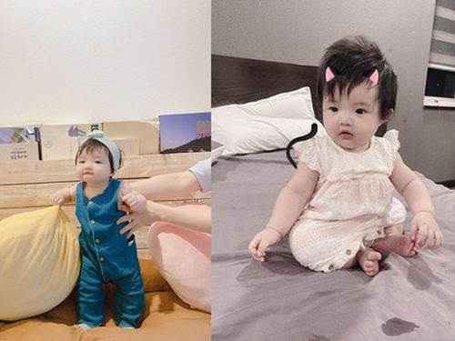 Đông Nhi chăm chỉ cho con gái cưng ăn mặc sành điệu