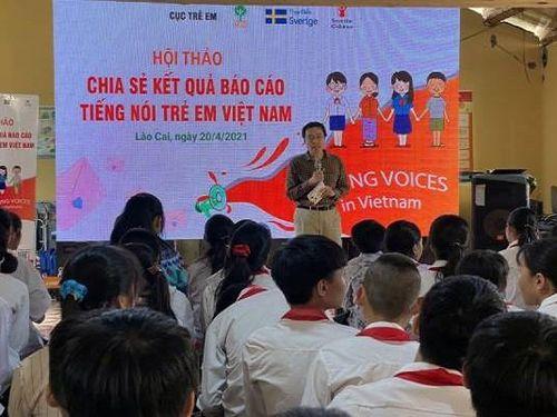 Chia sẻ kết quả báo cáo khảo sát 'Tiếng nói trẻ em Việt Nam' tại Lào Cai
