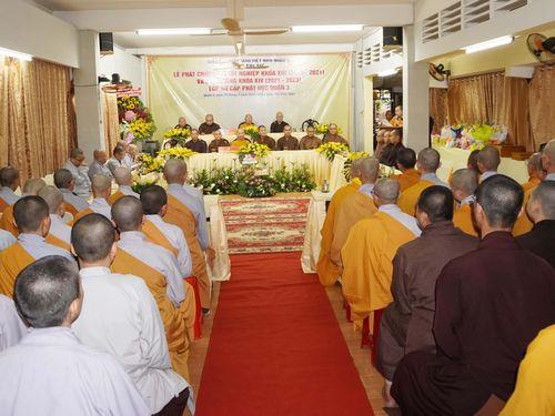 Lớp Sơ cấp Phật học quận 3 trao chứng chỉ tốt nghiệp khóa XIII đến Tăng Ni