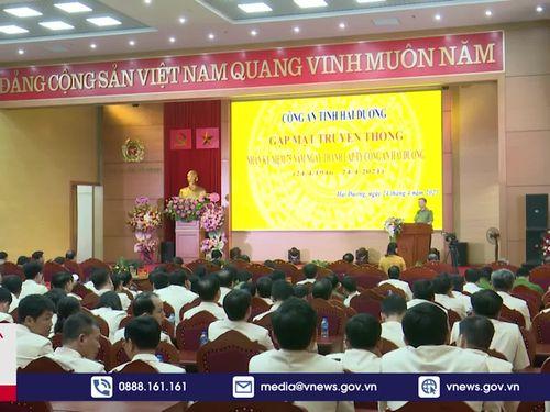 Bộ trưởng Bộ Công an dự kỷ niệm 75 năm thành lập Ty Công an Hải Dương