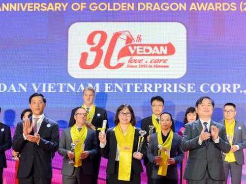 Vedan Việt Nam đón nhận 'Giải thưởng Rồng Vàng 2020'