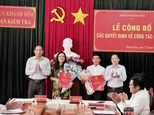 Chuẩn y 2 ủy viên Ủy Ban kiểm tra Tỉnh ủy Khánh Hòa
