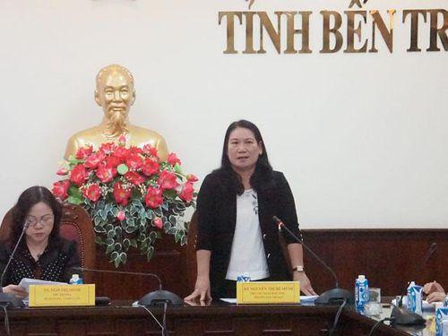 Thứ trưởng Ngô Thị Minh kiểm tra công tác chuẩn bị Hội khỏe Phù Đổng tại Bến Tre